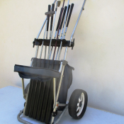 Golf trolley set with some clubs for sale