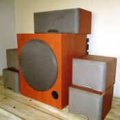 Sony wood surround sound system with...